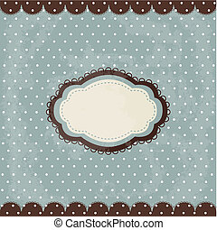 Vintage polka dot design, brown fra