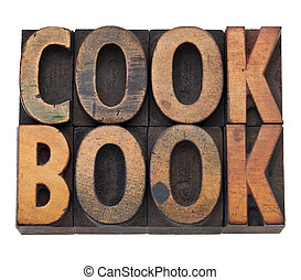 cookbook in letterpress type