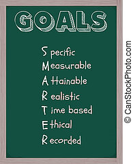 Smarter Goals Blackboard - A blackboard with the word Goals...