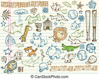 Sketch Doodle Vector Elements Set