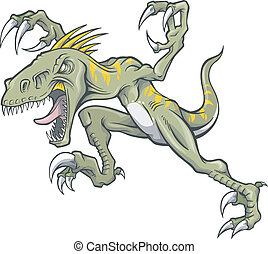 Raptor dinosaur Vector Illustration art