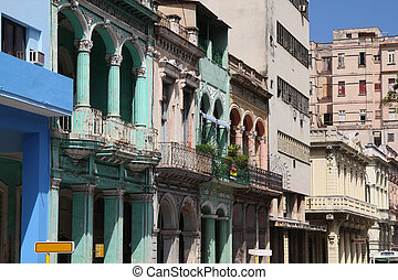 Cuba - Havana - Havana, Cuba - city architecture. Old...