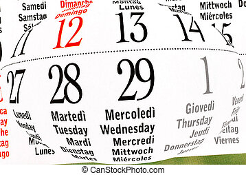 Calendar of leap year, February - details of calendar of...