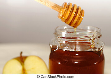 Rosh Hashana Traditional Apple and Honey - Apple and honey -...