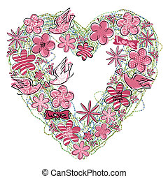 Love Heart-graphic element symbolizing the romance and...