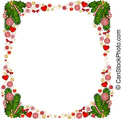 background with Candy cane. - Christmas background with...