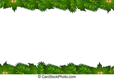 Christmas background with tree.