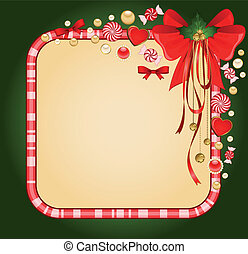 background with Candy cane.