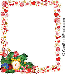 background with Candy cane - Christmas background with Candy...