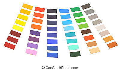 color palette on white background