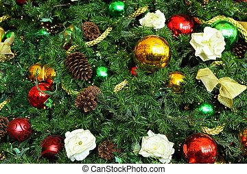 木, クリスマス, 装飾