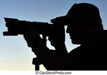 Silhouette of Photographer - Silhouette of a photographer...