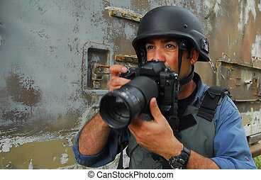 Press Photojournalist Photographer - A press photojournalist...