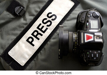 Press Gear Studio - Press photographers bullet proof vest...