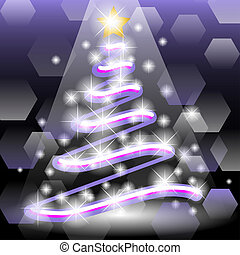 Christmas tree - Illustration of a Christmas tree in the...