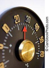 vendimia, termómetro