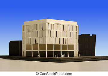 Building scale model - Photo of a building scale model