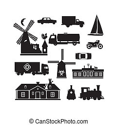 Silhouette - Miscellaneous - Vector silhouette clip art of...