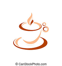 Espresso - Artistic cup of espresso isolated over white