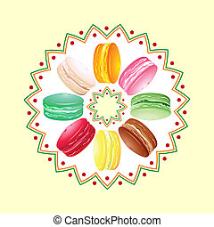 Macaroon twist - Colorful french cookie macaroon twisted...