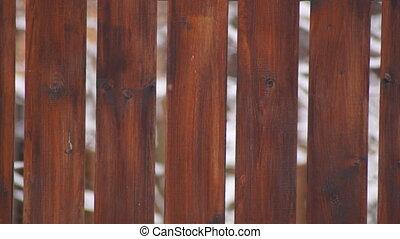 Fence - Wooden fance, winter