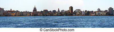 Panorama Centro Havana - view from the sea to Centro Havana,...
