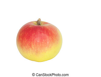 red with yellow apple