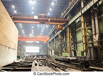 Workshop of machinery plant