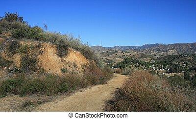 Shadow Hills 4 - Trail in the Shadow Hills, San Fernando...