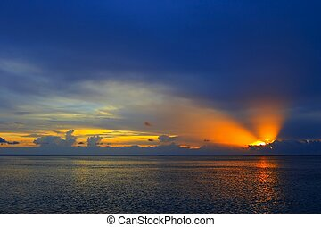 Sunset in the Indian Ocean - Nice Sunset in the Indian...
