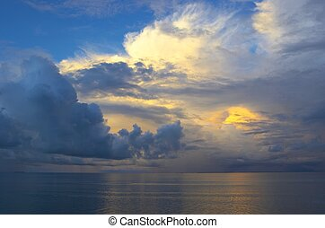 Sunset sky in Indian Ocean - Fantastic sunset sky in Indian...