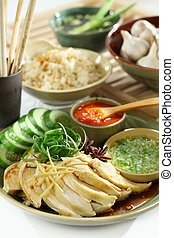 Asian food Chicken and Rice - Chinese and Vietnam famous Com...