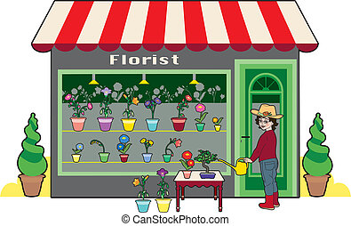 Florist - small flower shop and florist