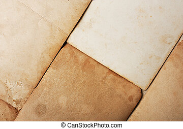 Stack old papers on grunge background