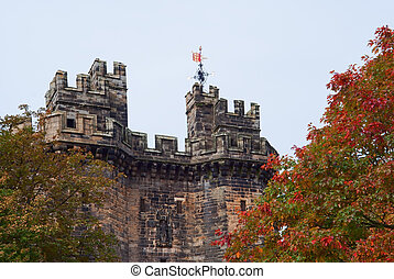 Lancaster castle gates - Gates of the Lancaster castle, UK