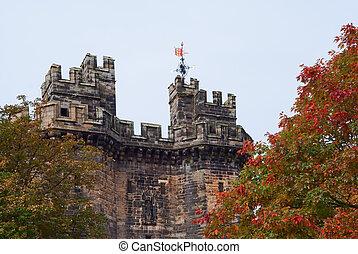 Lancaster castle gates - Gates of the Lancaster castle, UK