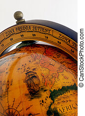 World Old Globe Map - An old globe with the map of the world...