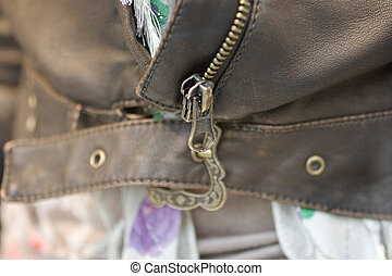 Leather jacket - Buckle on a leather jacket