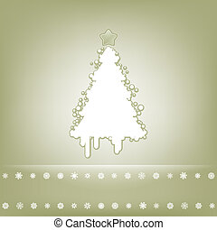 Elegant card with christmas tree. EPS 8 vector file included