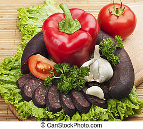 sausage  - Blood sausage with vegetables