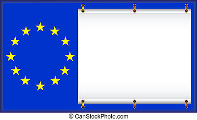 Flag EU - European Union flag On a flag the banner is...