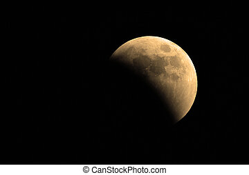 Lunar Eclipse - The moon as it seen from earth during a...
