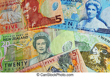 Photo Illustrations-Money Notes - New Zealand money - NZ...