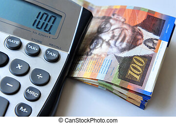 Israeli Money and Economy - Calculator with one hundred New...