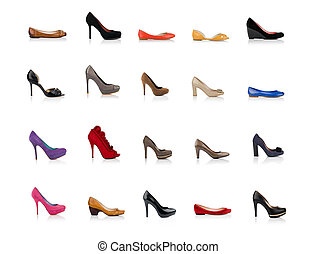 Fashionable female shoes - Many fashionable female shoes...
