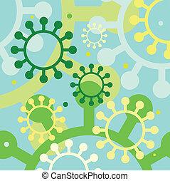 Decorative abstract circles