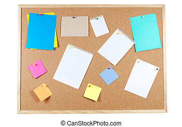Corkboard with announcements