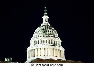 Dome of US Capitol Building in Washington, DC International...