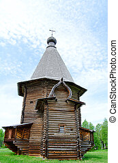 Wooden churches in the north Russia Arkhang