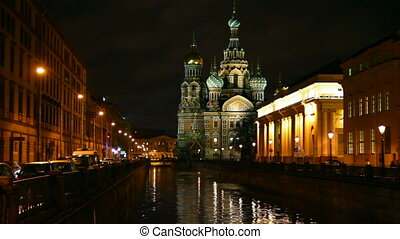 Savior on Blood - Christ the Savior Cathedral in St. Petersburg at night